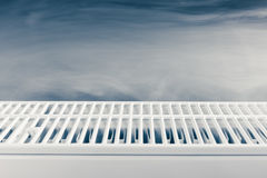 Heating radiator with warm steam Stock Photos