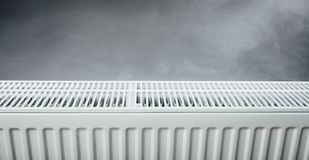 Heating radiator with warm steam Royalty Free Stock Image