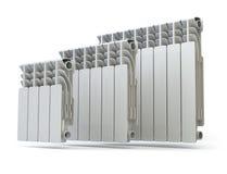 Heating radiators  on white background. Royalty Free Stock Image
