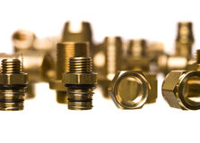 Heating and sanitation screws Royalty Free Stock Photo