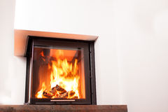 Heating small fireplace Stock Photos