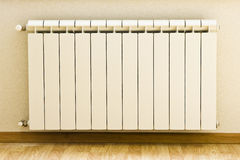 Heating system. In apartment of a new building Royalty Free Stock Photo