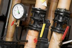 Heating system Boiler room Royalty Free Stock Images