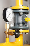 Heating system Boiler room equipments Stock Images