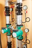 Heating system Boiler room equipments Stock Photography