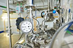 Heating system boiler room equipments Royalty Free Stock Photography
