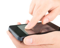 Smart phone in the hands Royalty Free Stock Image