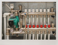 Heating system of the house. Close up Stock Photography