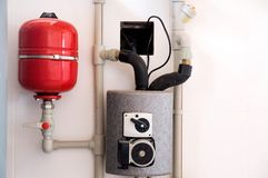 Heating system in the house. Photo of heating system in the house royalty free stock photo