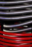 Heating tubes. Close up of colorful, coiled heating tubes in machine Royalty Free Stock Photography