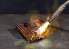 Heating up a cooling element Stock Photography