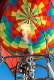 Heating up a hot air balloon Royalty Free Stock Photo