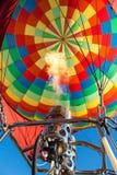 Heating up a hot air balloon royalty free stock photo
