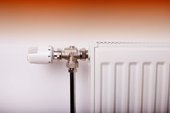 Heating valve Stock Photo