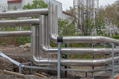 Pipes. Heating Ventilation and Air Conditioning Hvac Pipes stock photography