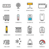 Heating, ventilation and conditioning icons set Royalty Free Stock Image