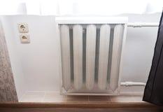 Heating white radiator Royalty Free Stock Photos