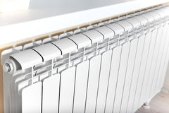 Heating white radiator radiator. Stock Photography