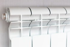 Heating white radiator radiator. Stock Images