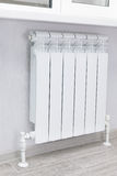Heating white radiator radiator. Royalty Free Stock Image