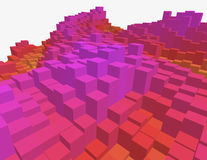 heatmap do voxel 3d Foto de Stock