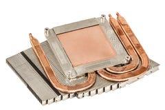 Heatpipe och element för att kyla av processorn, kylsystem, royaltyfri bild