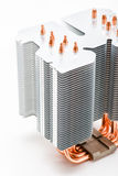 Heatpipes in modern cooler. Cooling concept Royalty Free Stock Image