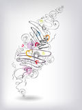 Heats doodles. Abstract background with doodles and hearts composition Stock Image
