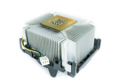 Heatsink with cpu in isometric Stock Image