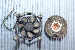 Heatsink i fan pył Zdjęcie Royalty Free