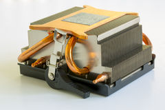 Heatsink voor een Computermicrochip Stock Fotografie