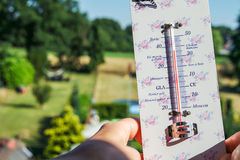Heatwave - Temperatures climb very high Stock Image