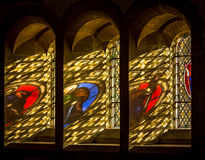 Heavans światło przez witrażu Zdjęcie Royalty Free