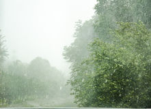 Heave rain Royalty Free Stock Images