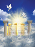 Heaven. Ascending stairway to heaven through clouds Royalty Free Stock Images