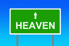 Heaven. Sign indicating the way to heaven Stock Images