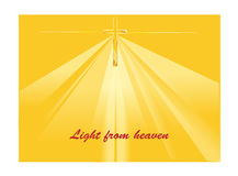 Heaven. Light   from heaven with the holy cross Royalty Free Stock Photo