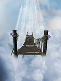 Heaven. Beautiful path in the heaven Stock Image