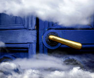 Heaven blue door Royalty Free Stock Photos