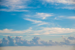 Heaven  - blue sky, beautiful white clouds, sunshine.  Royalty Free Stock Image