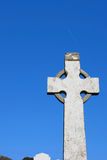Heaven bound. A celtic cross in an irish graveyard royalty free stock photography