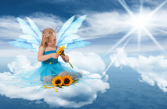Heaven on a cloud stock images