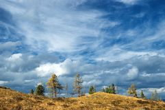 Heaven with clouds Royalty Free Stock Photography