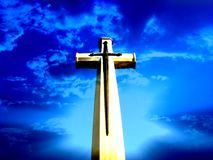 Heaven Cross. A heavenly background of a cross Royalty Free Stock Photo