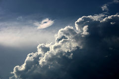 Heaven deep sky. Deep blue sky with white clouds on fresh wind Royalty Free Stock Image