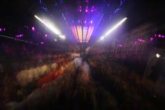Heaven disco. Long exposure shot of crowd at heaven nightclub, london royalty free stock photos