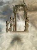 Heaven door 3d computer graphic vector illustration