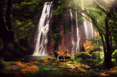 Heaven Dream. Dreamy pict was taken at Cikaso waterfall, Indonesia Stock Photo