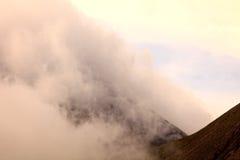 Tungurahua volcano sunset explosion Royalty Free Stock Photos