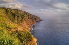 Heaven on earth. Madeira Island. Portugal. Stormy sky and sun royalty free stock photos